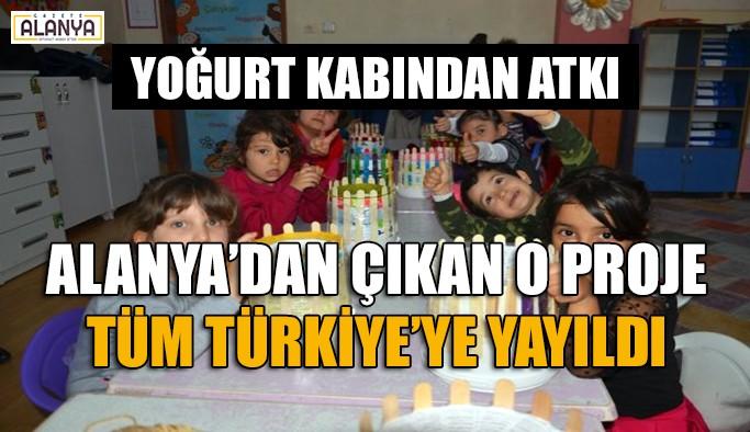 Alanyalı öğretmenin başlattığı o proje tüm Türkiye'ye yayıldı
