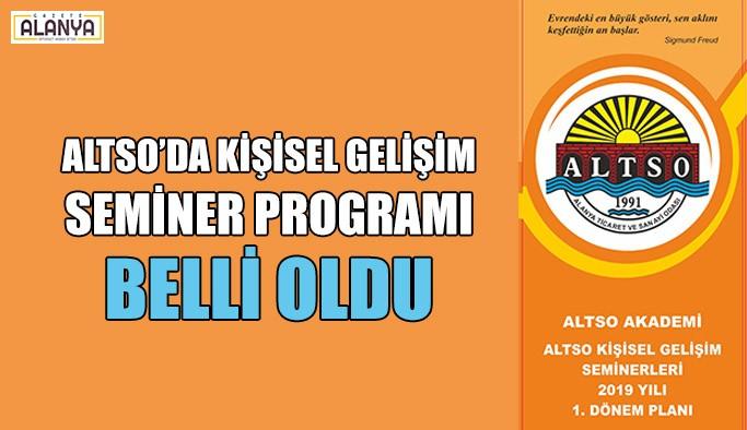 ALTSO'da kişisel gelişim seminer programı belli oldu