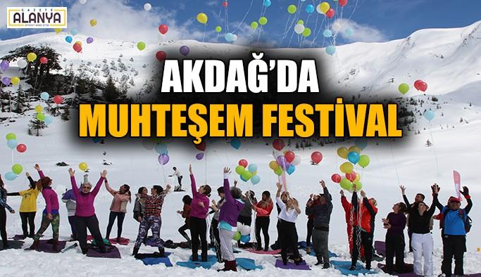 Birinci Akdağ Kayak Festivali yapıldı