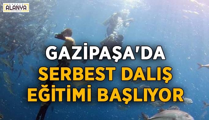 Gazipaşa'da serbest dalış eğitimi başlıyor