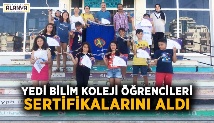 Yedi Bilim Koleji öğrencileri sertifikalarını aldı