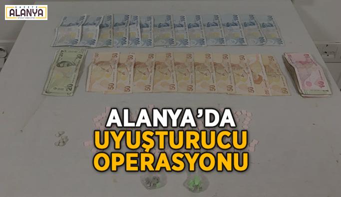 Alanya'da uyuşturucu hapla yakalandı