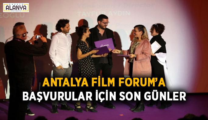 Antalya Film Forum'a başvurular için son günler