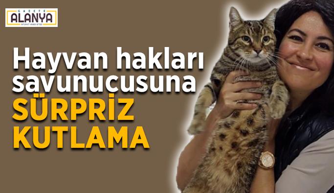 Hayvan hakları savunucusuna sürpriz kutlama