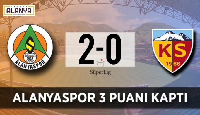 Alanyaspor evinde ligin ilk maçında sahadan galip ayrıldı ..