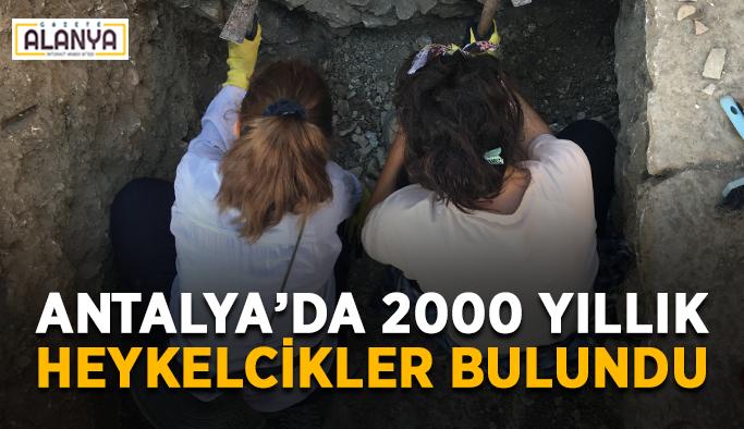 Antalya'da 2000 yıllık heykelcikler bulundu