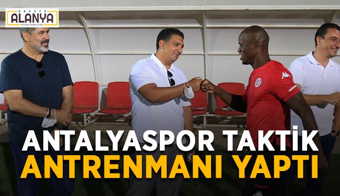 Antalyaspor taktik antrenmanı yaptı