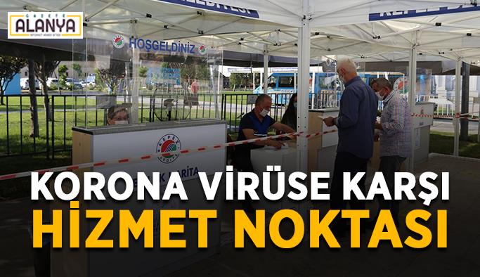 Korona virüse karşı hizmet noktası
