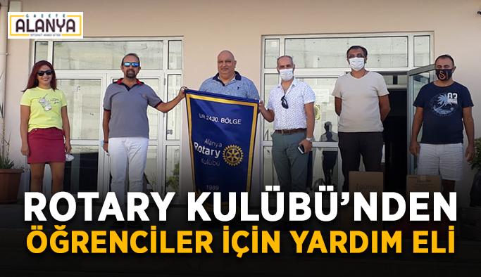 Rotary Kulübü'nden öğrenciler için yardım eli