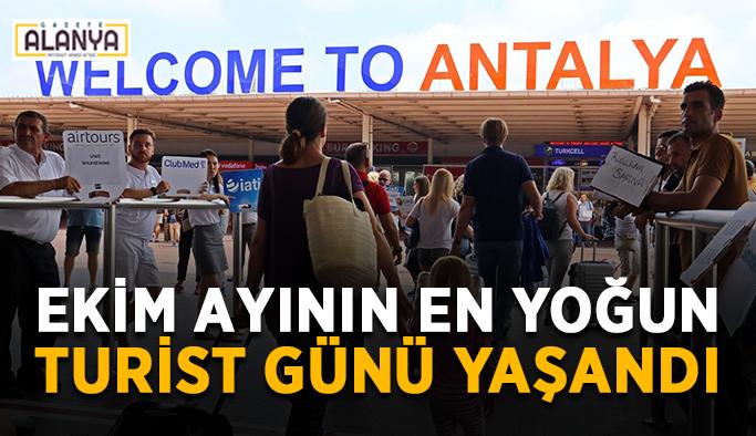 Antalya'da en yoğun turist günü