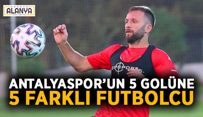 Antalyaspor'un 5 golüne 5 farklı futbolcu