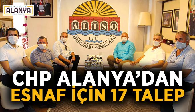 CHP Alanya'dan esnaf için 17 talep