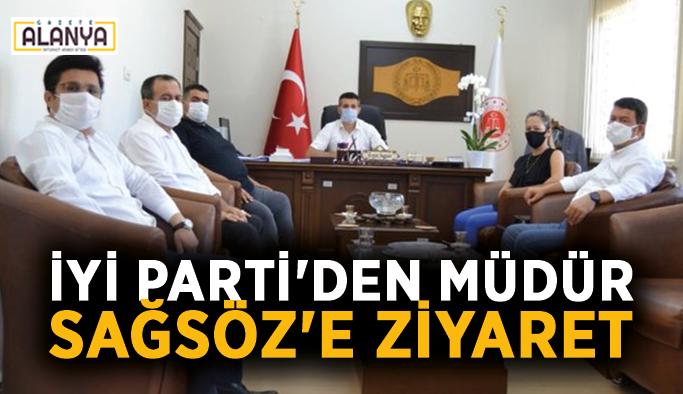 İYİ Parti'den müdür Sağsöz'e ziyaret