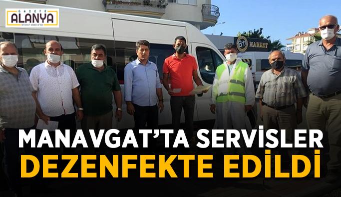 Manavgat'ta 350 öğrenci servisi dezenfekte edildi