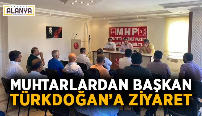 Muhtarlardan Başkan Türkdoğan'a ziyaret