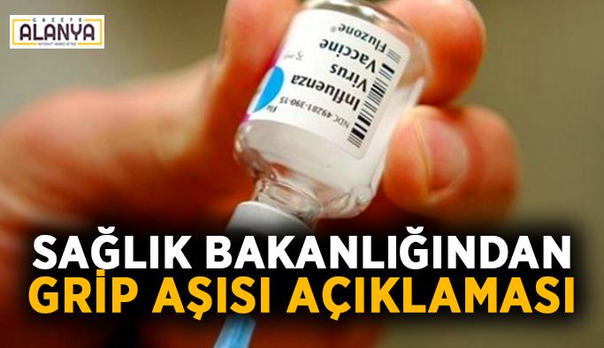 Sağlık Bakanlığından önemli grip aşısı açıklaması