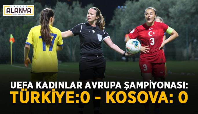 UEFA Kadınlar Avrupa Şampiyonası: Türkiye:0 - Kosova: 0