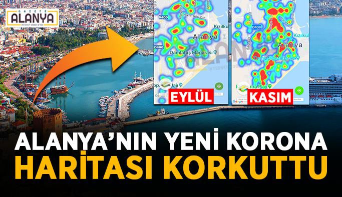 Durum ciddi! Alanya'nın yeni korona haritası korkuttu