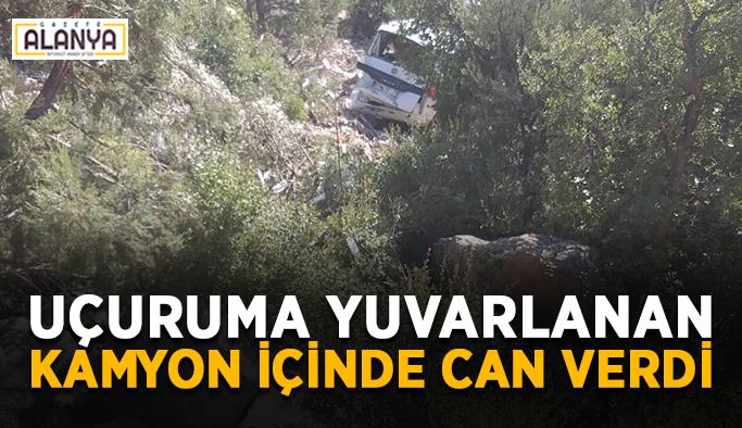 Uçuruma yuvarlanan kamyonet sürücüsü yaşamını yitirdi