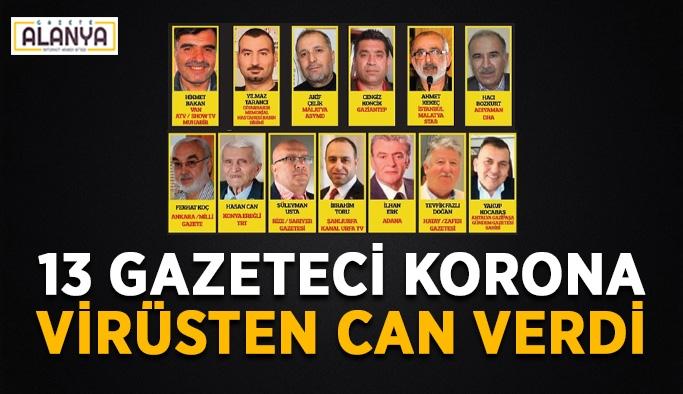 Türkiye'de 13 gazeteci koronadan hayatını kaybetti