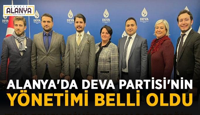 Alanya'da Deva Partisi'nin yönetimi belli oldu