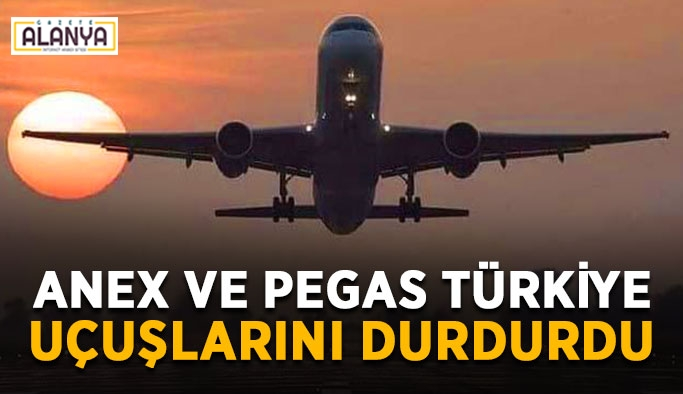 Anex ve Pegas Türkiye uçuşlarını durdurdu