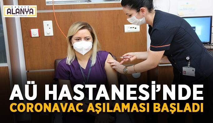 AÜ Hastanesi'nde CoronaVac aşılaması başladı