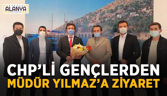 CHP'li gençlerden müdür Yılmaz'a ziyaret