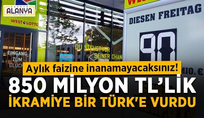 Faizi dudak uçuklattı! 850 milyon TL'lik ikramiye bir Türk'e vurdu
