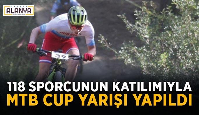 118 sporcunun katılımıyla MTB Cup yarışı yapıldı