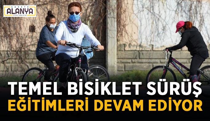 Temel bisiklet sürüş eğitimleri devam ediyor