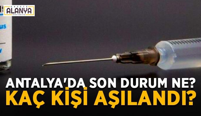 Antalya'da son durum ne? Kaç kişi aşılandı?
