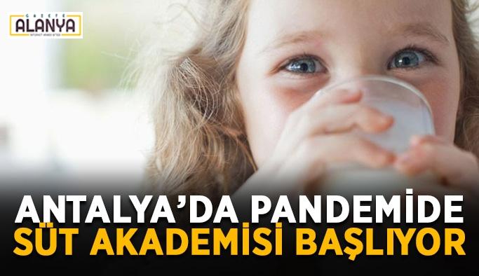 Antalya'da pandemide süt akademisi başlıyor