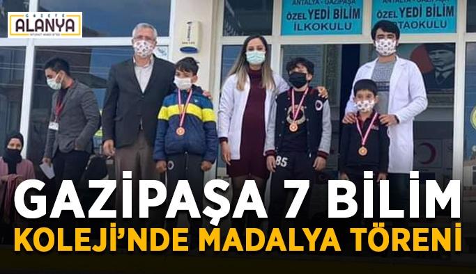 Gazipaşa 7 Bilim Koleji'nde madalya töreni