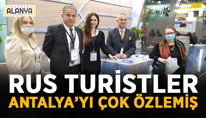 Rus turistler Antalya'yı çok özlemiş