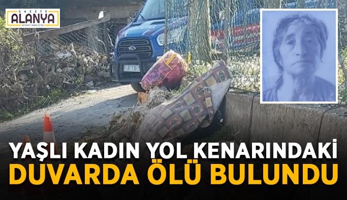 Yaşlı kadın yol kenarındaki duvarda ölü bulundu