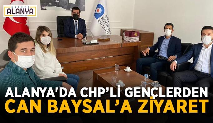 Alanya'da CHP'li gençlerden Can Baysal'a ziyaret