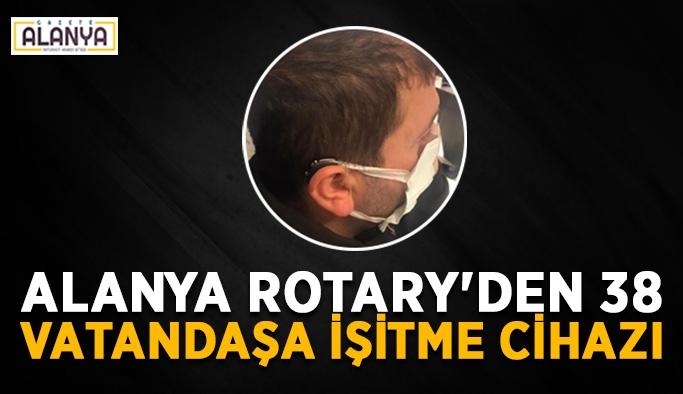 Alanya Rotary'den 38 vatandaşa işitme cihazı