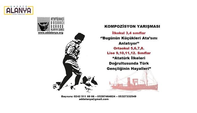 Alanyalı gençler Atatürk için yarışacak
