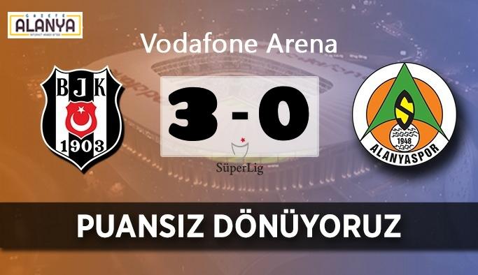 Alanyaspor Beşiktaş deplasmanından eli boş dönüyor