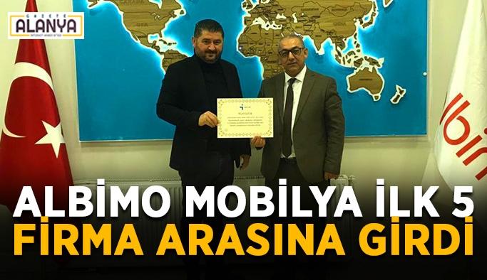 Albimo Mobilya ilk 5 firma arasına girdi