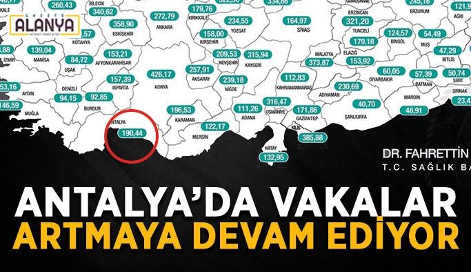 Antalya'da vakalar artmaya devam ediyor