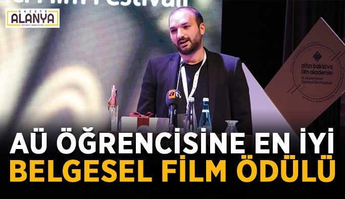 AÜ öğrencisine En İyi Belgesel Film ödülü