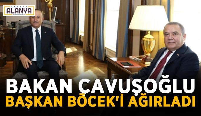 Bakan Çavuşoğlu Başkan Böcek'i ağırladı