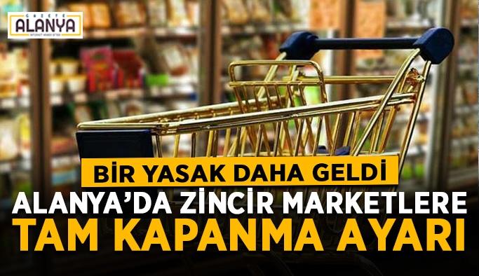 Gıda ve temizlik malzemesi dışında satış yasaklandı
