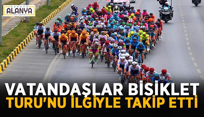 Vatandaşlar Bisiklet Turu'nu ilgiyle takip etti