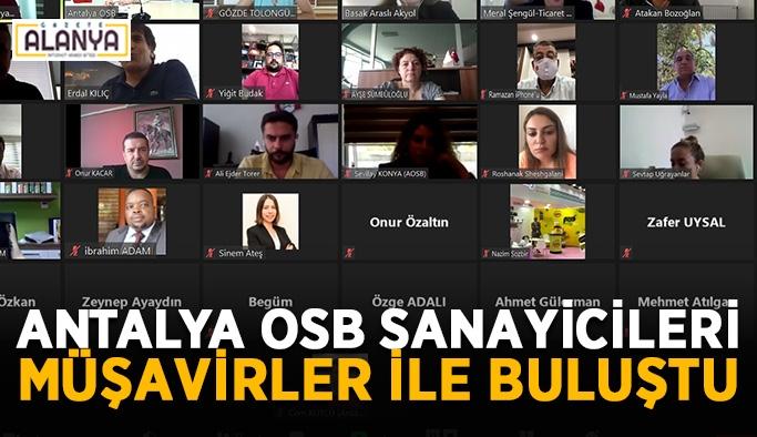 Antalya OSB sanayicileri müşavirler ile buluştu