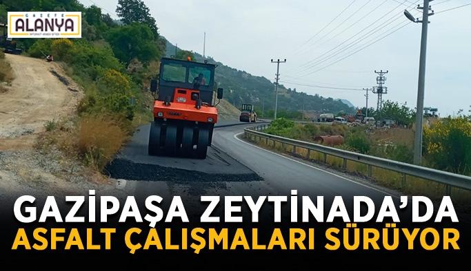 Gazipaşa Zeytinada'da asfalt çalışmaları sürüyor