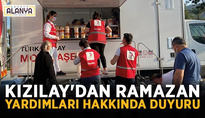 Kızılay'dan Ramazan yardımları hakkında duyuru