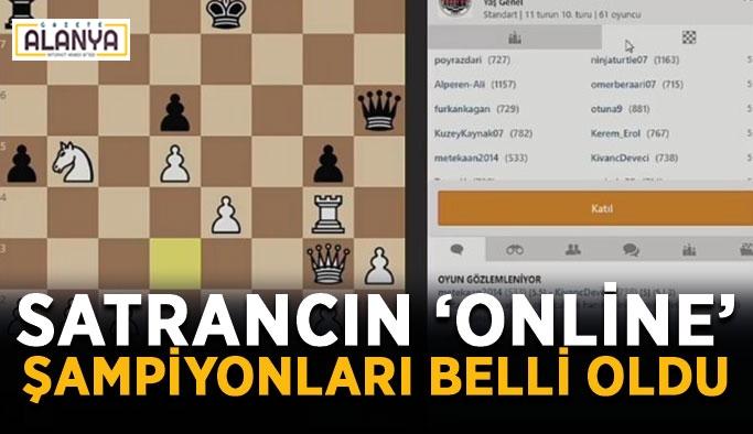 Satrancın 'online' şampiyonları belli oldu